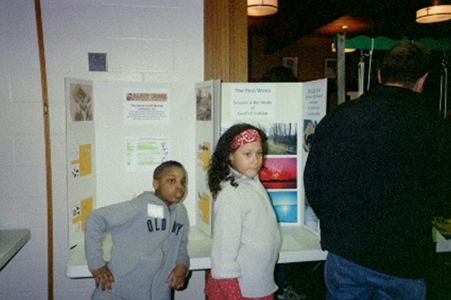 Joel and Ruth at Homeschool Science Fair