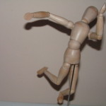 Dancing Wooden Figure